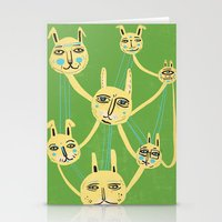 Connected Rabbits Stationery Cards