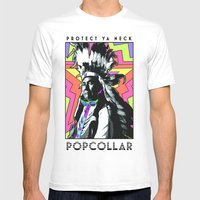 PopCollar W/JMR1 Mens Fitted Tee White SMALL
