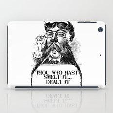 Vintage Thou who hast smelt it, dealt it  iPad Case