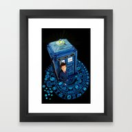 Doctor Who At Arch Of Ti… Framed Art Print