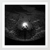 Drawlloween 2015: Vampire Art Print