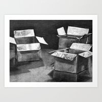 Three 'Ole Boxes Art Print