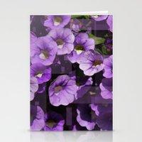 Purple Flower Kaleidoscope Stationery Cards
