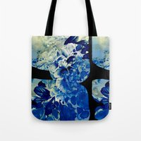 hidden blue peony Tote Bag