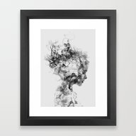 Framed Art Print featuring Dissolve Me by One Man Workshop