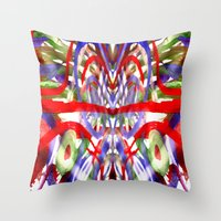 Color and lines in space Throw Pillow