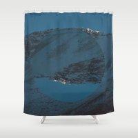 Blue Mountain Shower Curtain