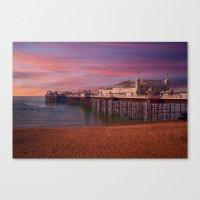 Brighton Pier Sunrise Canvas Print