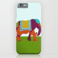 iPhone & iPod Case featuring Elephants on the Streets of India by Simi Design