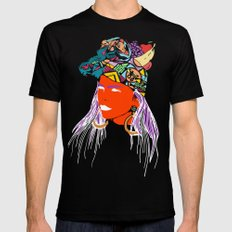 At The Cabana Mens Fitted Tee Black SMALL
