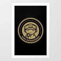 Chibi Kimi Raikkonen - Lotus F1 Team Art Print
