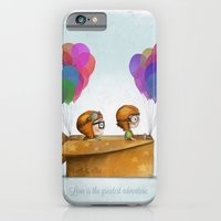 adventure iPhone & iPod Cases featuring UP Pixar— Love is the greatest adventure  by Ciara Panacchia