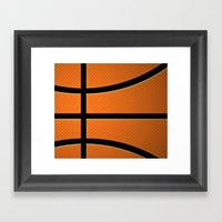 Basketball Framed Art Print