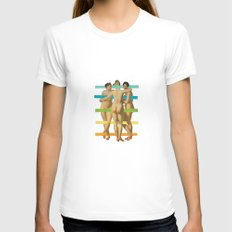 Les Trois Graces Womens Fitted Tee White SMALL