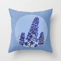 Blue Blue Blue IV Throw Pillow