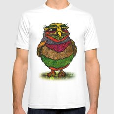 Owly SMALL Mens Fitted Tee White