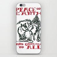 Peace on earth 2014 III iPhone & iPod Skin