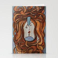 Lesbian Kiss (Art Nouvea… Stationery Cards