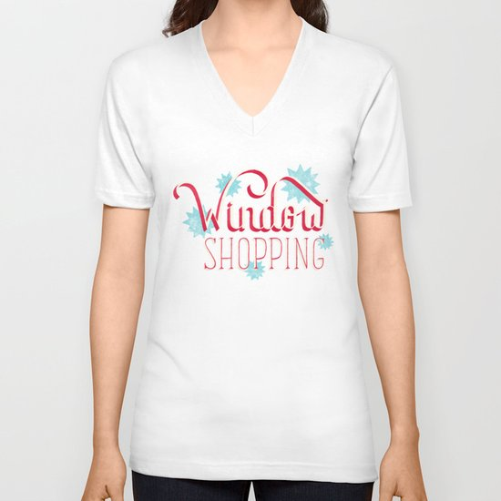 Window Shopping V-neck T-shirt