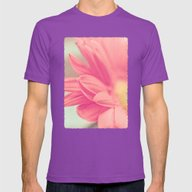 Pink Petals Mens Fitted Tee Ultraviolet SMALL