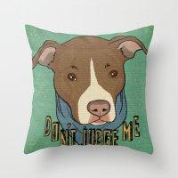 Pit bull Pride Throw Pillow