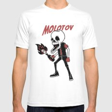 Molotov White Mens Fitted Tee SMALL
