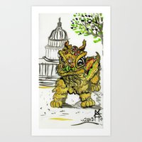 Lion Dance  Art Print