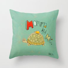 Momma and Me Throw Pillow