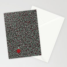 Blue w/Red Accent Dot Color Design Stationery Cards
