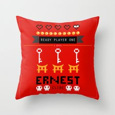 Ready Player One Alternate Cover Throw Pillow