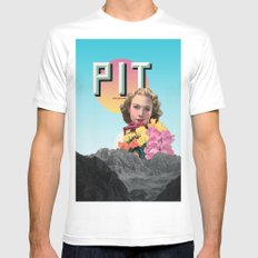 PIT SMALL White Mens Fitted Tee