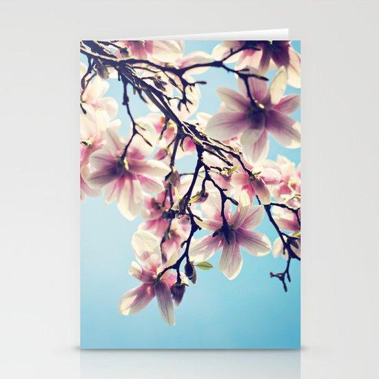 May Magnolias  Stationery Card