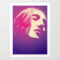 Lady In Purple Art Print