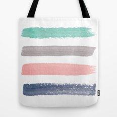 Colored Watercolor Brush Strokes Tote Bag