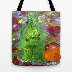 Bottle with Orange Tote Bag