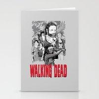 walking dead Stationery Cards featuring Walking Dead by Matt Fontaine