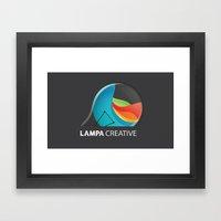 Lampa Creative Logo Framed Art Print
