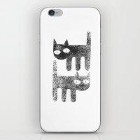 Three legged cats iPhone & iPod Skin