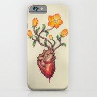 THIS BLEEDING BLOSSOMING HEART: ORANGE WILD ROSE iPhone 6 Slim Case