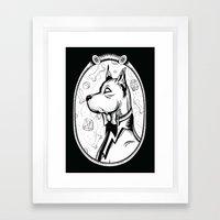 Family Portrait Dog Framed Art Print
