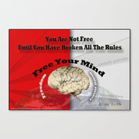 Free Your Mind Poster Canvas Print
