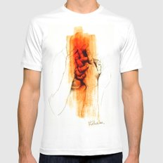 Shame White Mens Fitted Tee SMALL
