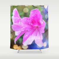 pretty purple garden flowers. nature is beautiful. floral photo art. Shower Curtain