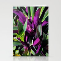 Purple and Green Stationery Cards