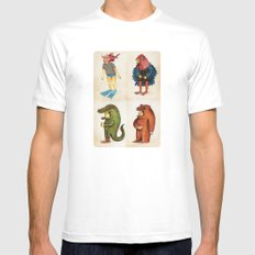 Costumes - Animalados Mens Fitted Tee SMALL White