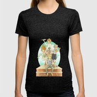 The Mermaid Club Womens Fitted Tee Tri-Black SMALL