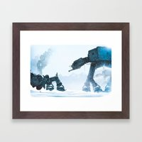 Out for a stroll... Framed Art Print
