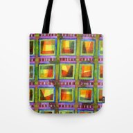 Light Behind Colourful G… Tote Bag