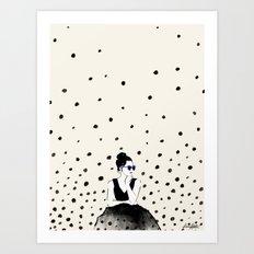 Polka Rain III Art Print
