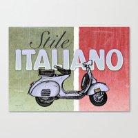 Stile Italiano Canvas Print